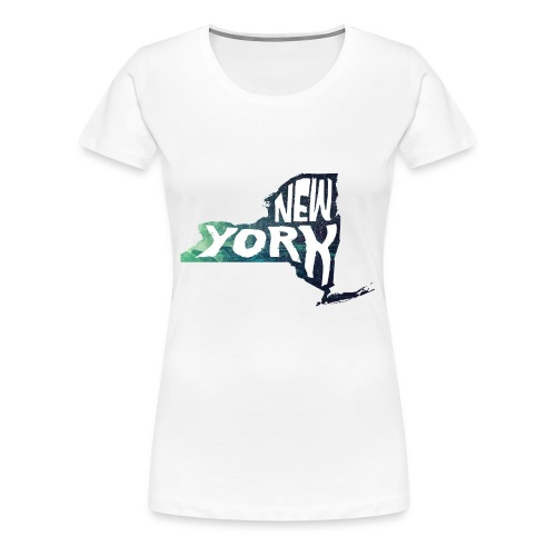 A New York State of Outline - Women's Premium T-Shirt