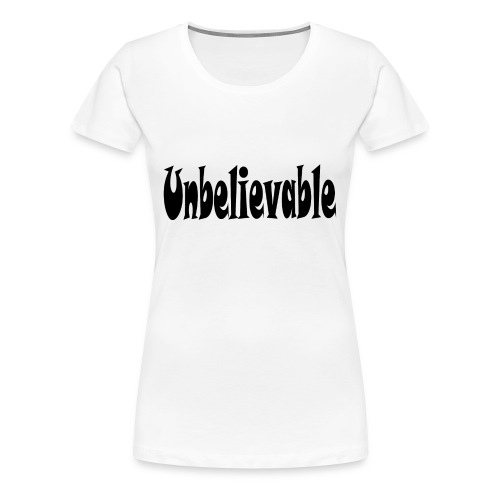 T-SHIRT (WHITE) - Women's Premium T-Shirt