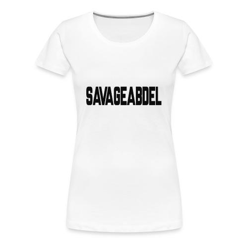 SAVAGEABDELBLACK - Women's Premium T-Shirt