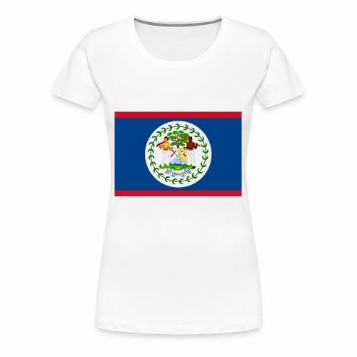 Flag of Belize - Women's Premium T-Shirt