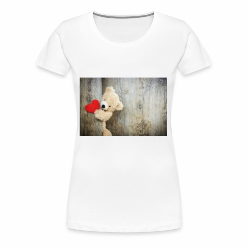 Heart Bear - Women's Premium T-Shirt