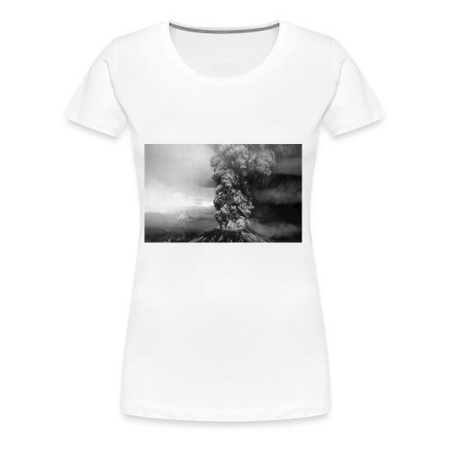 volcano smoke - Women's Premium T-Shirt