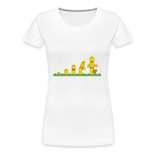 Lego Man Evolution - Women's Premium T-Shirt