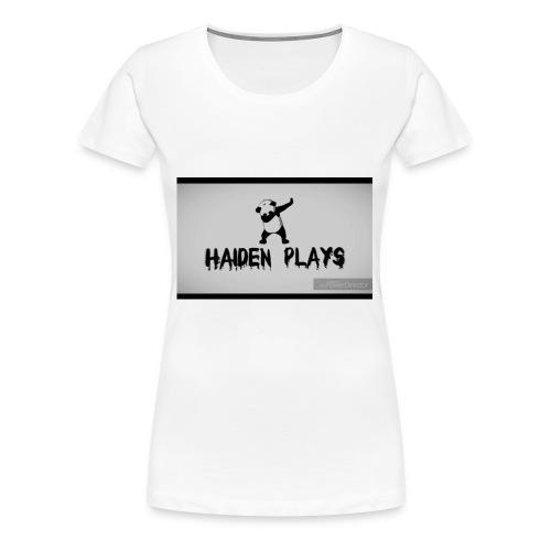 Haiden plays merch - Women's Premium T-Shirt