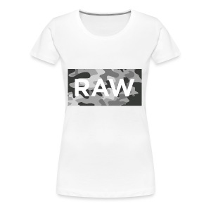 Raw Santa ® Grey Camo Boxed RAW - Women's Premium T-Shirt