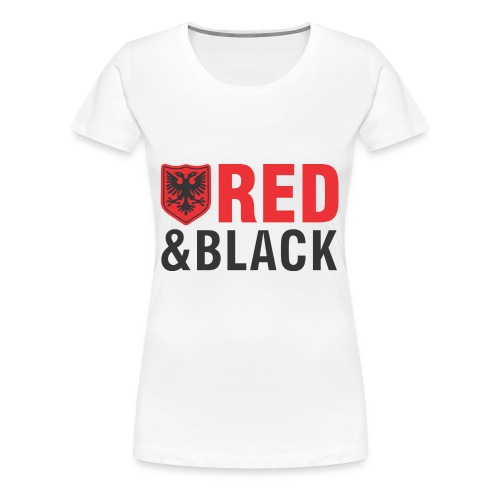 Albanian eagle red and black - Women's Premium T-Shirt