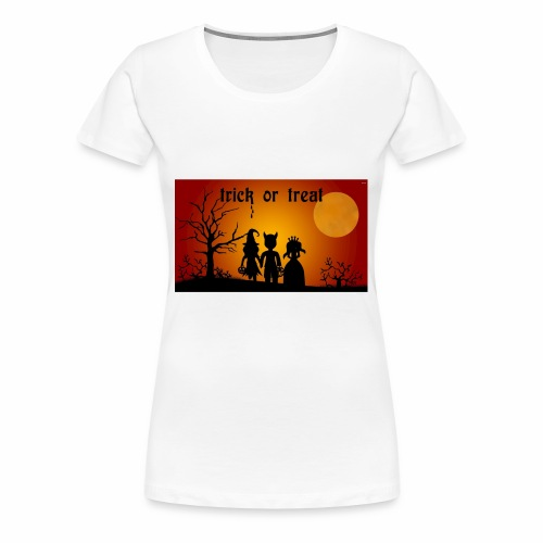 Wallpaper trick or treat Happy Halloween hd - Women's Premium T-Shirt