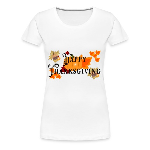 Happy Thanksgiving greeting card - Women's Premium T-Shirt