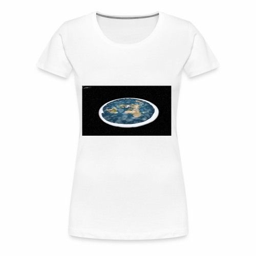 Flat Earth From Space - Women's Premium T-Shirt