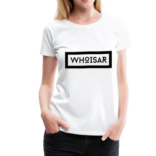 white logo dark background - Women's Premium T-Shirt