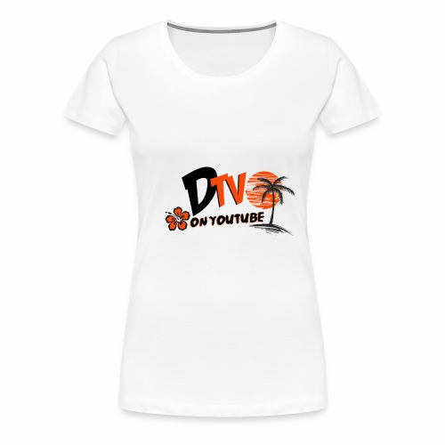 DTV VLOG Title California Logo on youtube - Women's Premium T-Shirt