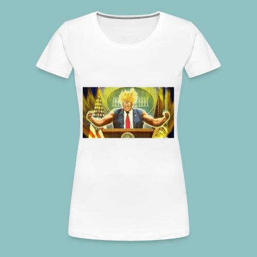 Donald Trump goes Super Saiyan - Women's Premium T-Shirt