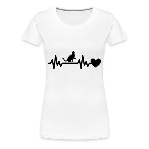 Cat Heart - Women's Premium T-Shirt