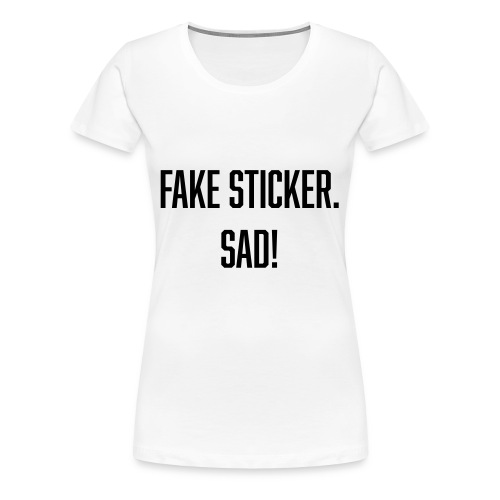 fake sticker - Women's Premium T-Shirt