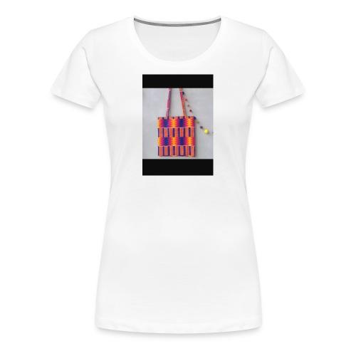 ANKARA TOTE BAG DESIGN - Women's Premium T-Shirt