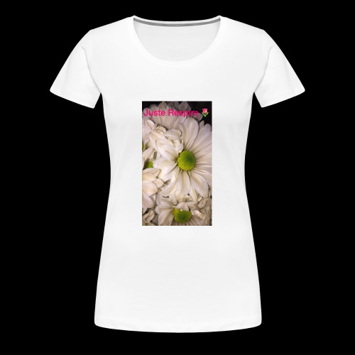 """Just Breathe "" in French - Women's Premium T-Shirt"