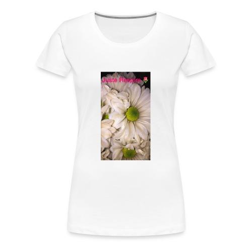 """Just Breathe "" in French - Women's Premium T-Shirt"