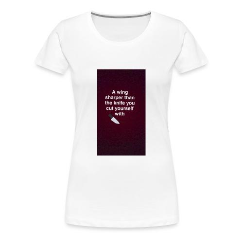 Bagelboos - sharp wing basic tee - Women's Premium T-Shirt