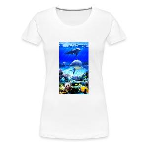 Dolphins world - Women's Premium T-Shirt