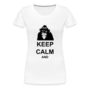 KEEP CALM MONKEY CUSTOM TEXT - Women's Premium T-Shirt
