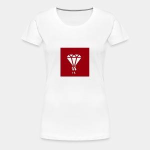 AIR MONEY PRODUCTIONz logo (red) - Women's Premium T-Shirt