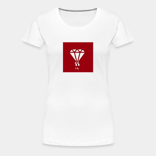 AIR MONEY PRODUCTIONz logo (red) - Women's Premium T-Shirt