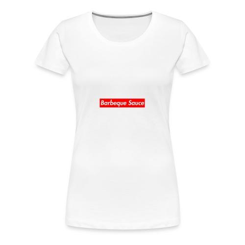 BBQ sauce on my titties - Women's Premium T-Shirt