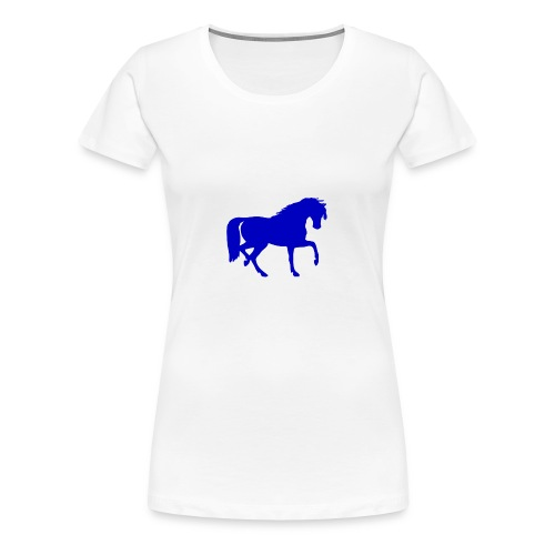 blue horse hoodie - Women's Premium T-Shirt