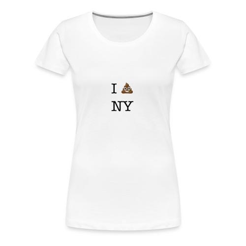 I poop NY - Women's Premium T-Shirt