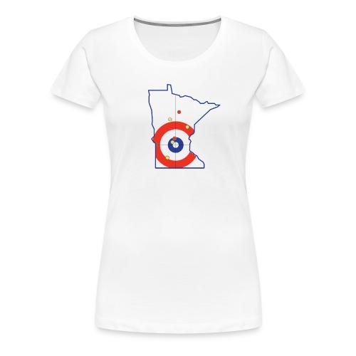 Minnesota Curling Rings - Women's Premium T-Shirt