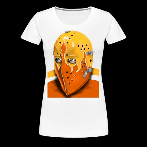 Philadelphia Vintage Ice Hockey Goalie Mask - Women's Premium T-Shirt