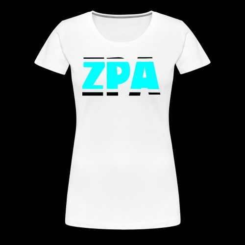 ZACHPLAYZARMY BLACK AND TEAL - Women's Premium T-Shirt