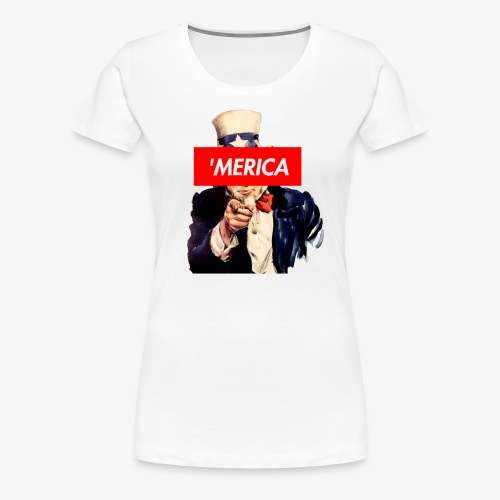 Uncle Sam Box Logo - Women's Premium T-Shirt