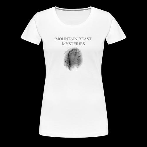 Mountain Beast Mysteries Official Bigfoot Logo - Women's Premium T-Shirt
