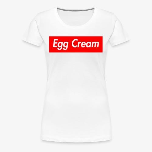 Egg Cream - Women's Premium T-Shirt