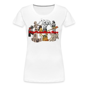 The Pulp Fiction Book Store full logo - Women's Premium T-Shirt