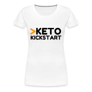 Keto Kickstart kaksi rivinen logo - Women's Premium T-Shirt