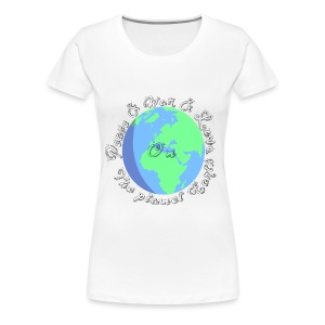 Peace and war and love on the planet earth - Women's Premium T-Shirt