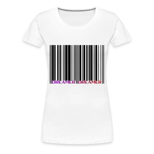 DREAMER Barcode (black-rainbow) - Women's Premium T-Shirt