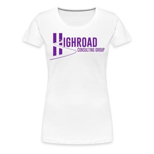 Highroad Logo Overlay Purple - Women's Premium T-Shirt