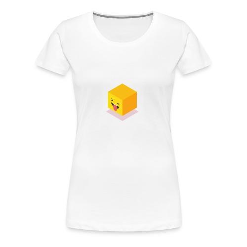 Silly Cube Face - Women's Premium T-Shirt