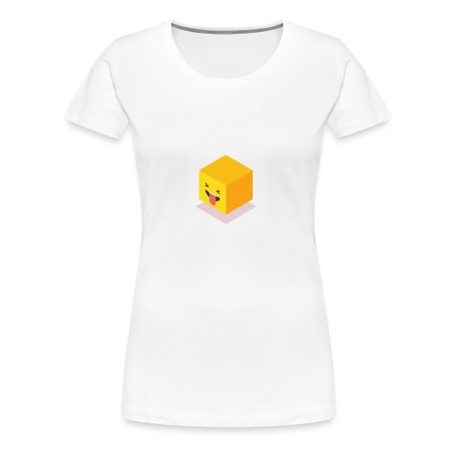 Silly Cube Face - Women's Premium T-Shirt