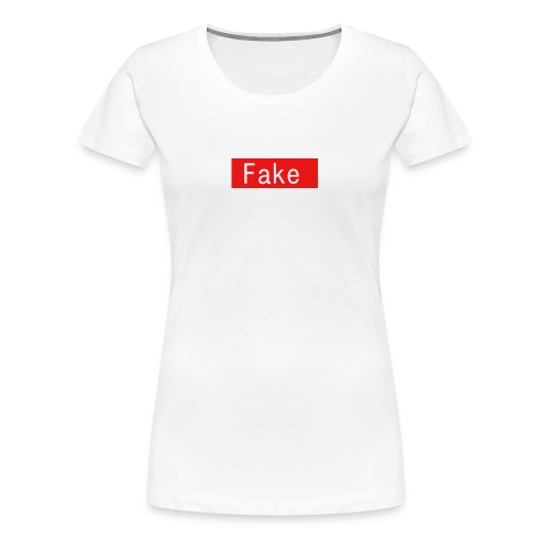 Fake By Clean Finish - Women's Premium T-Shirt