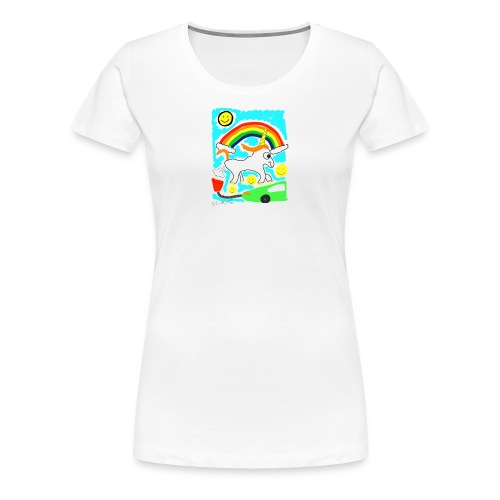 Unicorns are Magical Creatures The Make Electricit - Women's Premium T-Shirt