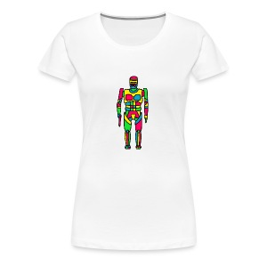 Cartoon Robocop in Color - Women's Premium T-Shirt