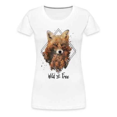 Wild & Free Fox - Women's Premium T-Shirt
