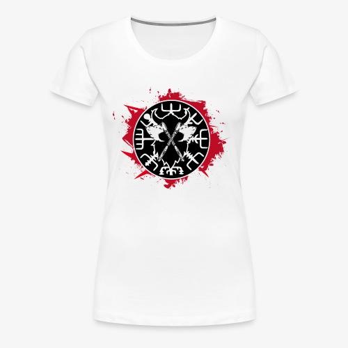 Viking Compass Vegvisir Runes bloody - Women's Premium T-Shirt