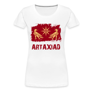 Artaxiad Coat of Arms - Gold Red - Women's Premium T-Shirt