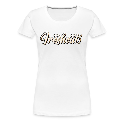 FRESHout Bubble Logo - Women's Premium T-Shirt