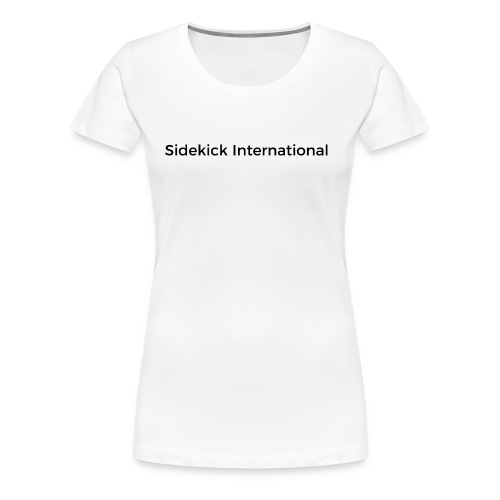 Sidekick International Logo (Black) - Women's Premium T-Shirt